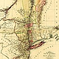 Map Of New York And New Jersey by Pg Reproductions