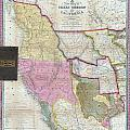 Map Of Texas Oregon And California by Paul Fearn