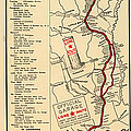 Map Of The Lone Star Route 1922 by Mountain Dreams