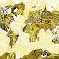 Map Of The World Collage  by Bekim Art
