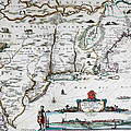 Map Of Virginia - 1665 by Charlie Ross