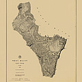 Map Of West Point 1883 by Andrew Fare