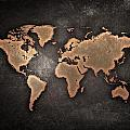 Map  The Continents  Grunge by Tian Chen