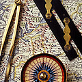Map With Compass Tools by Garry Gay