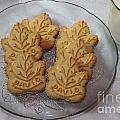 Maple Leaf Cookies And Milk - Food Art - Kitchen by Barbara Griffin