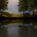 Maples In Moonlight Reflections by Frank Wilson