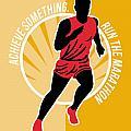 Marathon Achieve Something Poster Retro by Aloysius Patrimonio
