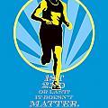 Marathon Runner First Retro Poster by Aloysius Patrimonio