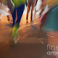 Marathon Running Abstract 1 by Julian Eales