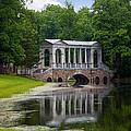 Marble Bridge In The Park Tsarskoye Selo by Rostislav Bychkov