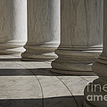 Marble Columns Of Thomas Jefferson Memorial by B Christopher