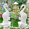 Marble Stork Sculptures In Xuat Anh-vietnam by Ruth Hager