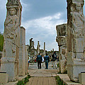 Marble Way From Theater To Central Ephesus-turkey by Ruth Hager