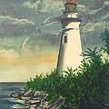 Marblehead Light On Lake Erie by Frank Hunter