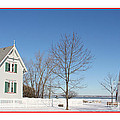 Marblehead Lighthouse In Snow by Jack Schultz