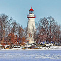 Marblehead Lighthouse In Winter by Jack Schultz