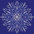 Marbleized Snowflake Kaleidoscope by MM Anderson