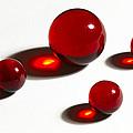 Marbles Red 2 by John Brueske