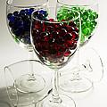 Marbles Wine Glasses 2 by John Brueske