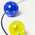Marbles Yellow Blue Curve 1 by John Brueske