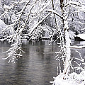 March Snow On The River by Thomas R Fletcher