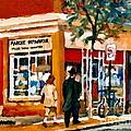 Marche Depanneur Storefront Paintings Authentic Montreal Art Prints Originals Commissions C Spandau by Carole Spandau
