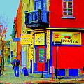 Marche Unique Cafe Sandwich Depanneur Rue St. Jacques St. Henri  Street Scenes Carole Spandau by Carole Spandau