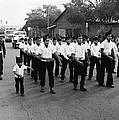 Marchers Number 1 100th Anniversary Parade Nogales Arizona 1980 Black And White  by David Lee Guss