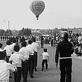 Marchers Number 2 100th Anniversary Parade Nogales Arizona 1980 Black And White  by David Lee Guss