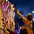 Mardi Gras At Night by Ray Devlin