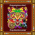 Mardi Gras Clown Style 1 Vector Sample by Bill Campitelle