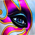 Mardi Gras Eye by Mike Martin
