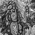 Mardi Gras Indian Monochrome by Steve Harrington