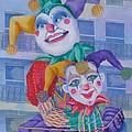 Mardi Gras Jesters by Rhonda Leonard