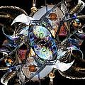 Mardi Gras Medusa by Ellen Cannon
