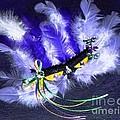 Mardi Gras On Purple by Alys Caviness-Gober