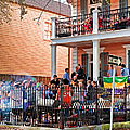 Mardi Gras Party On St Charles Ave New Orleans by Kathleen K Parker