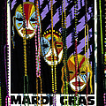 Mardi Gras Poster New Orleans by Mike Nellums