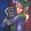 Mardi Gras Puppy by Beverly Boulet