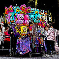 Mardi Gras Vendor's Cart by Marian Bell