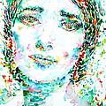 Maria Callas - Watercolor Portrait.1 by Fabrizio Cassetta