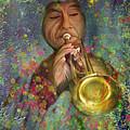 Mariachi Trumpet Player by Angela Stanton