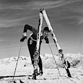 Marian Mckean With Skis by Toni Frissell