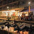 Marigot Marina At Night by Roupen  Baker