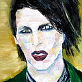 Marilyn Manson Oil Portrait by Fabrizio Cassetta