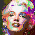 Marilyn Monroe 01 - Abstarct by Samuel Majcen