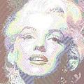 Marilyn Monroe 01 - Parallel Hatching by Samuel Majcen