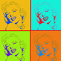 Marilyn Monroe 20130331 Four by Wingsdomain Art and Photography