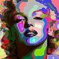 Marilyn Monroe - Abstract 1 by Samuel Majcen