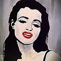 Marilyn Monroe Aka Norma Jean Artistic Impression by Saundra Myles